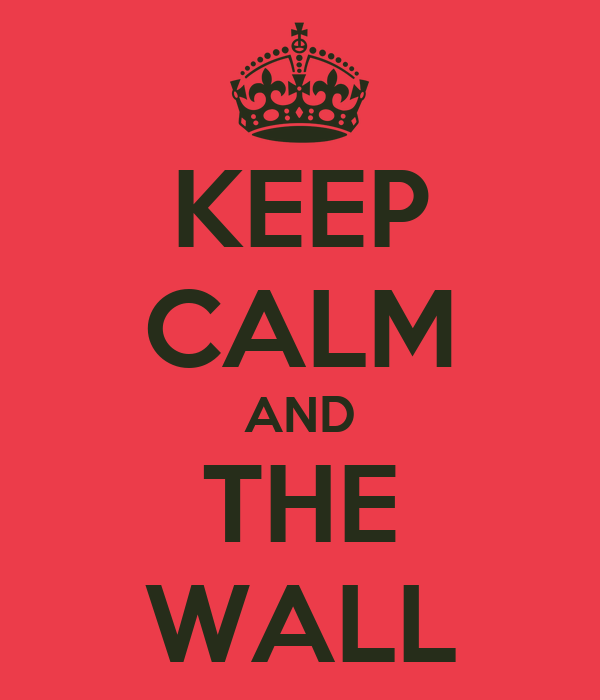 KEEP CALM AND THE WALL