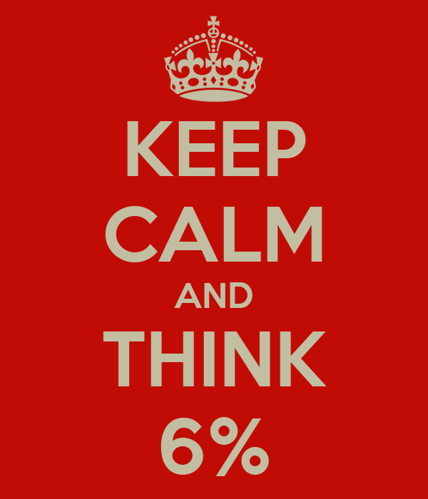 KEEP CALM AND THINK 6%
