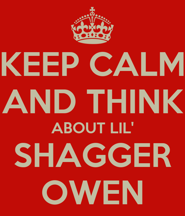 KEEP CALM AND THINK ABOUT LIL' SHAGGER OWEN