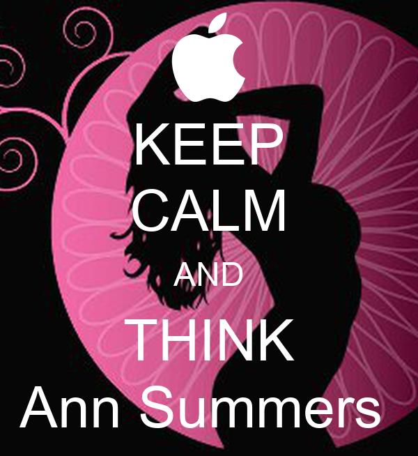 KEEP CALM AND THINK Ann Summers