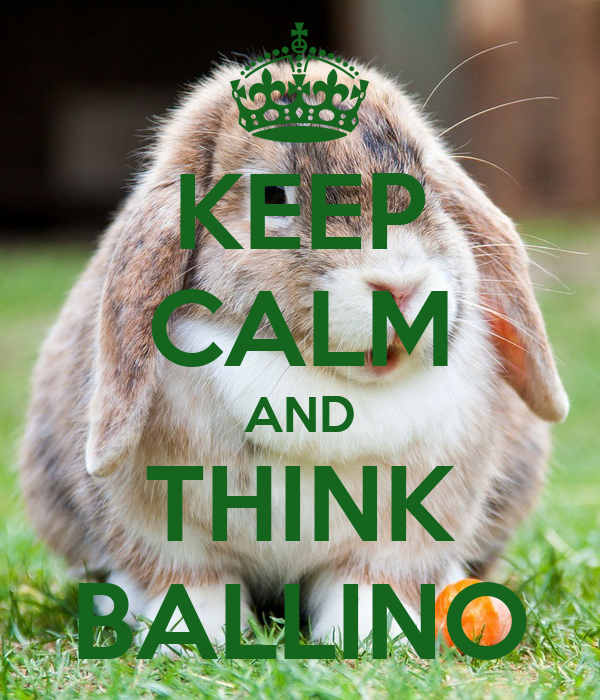 KEEP CALM AND THINK BALLINO