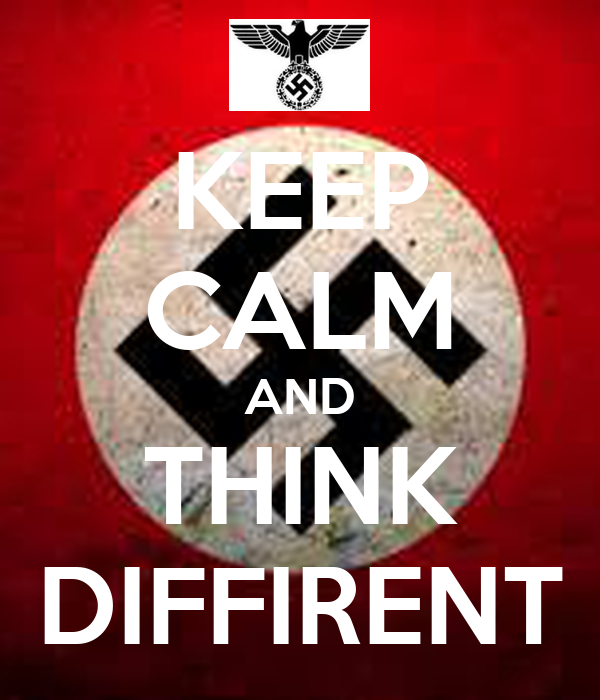 KEEP CALM AND THINK DIFFIRENT