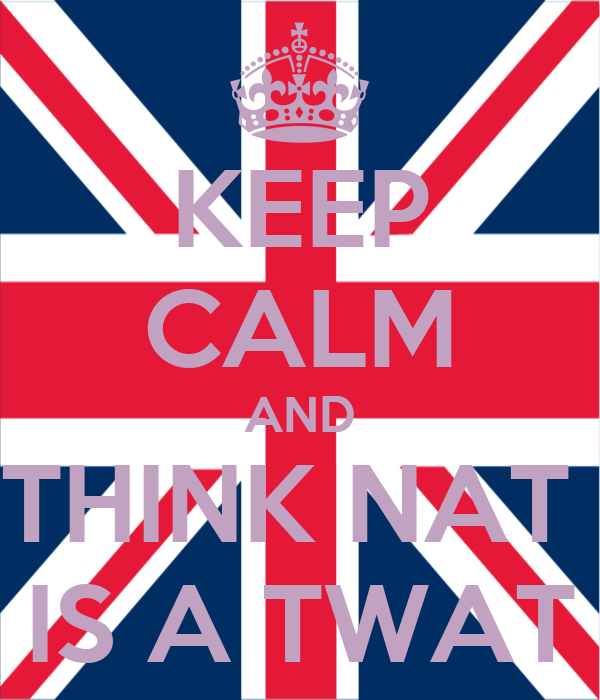 KEEP CALM AND THINK NAT  IS A TWAT