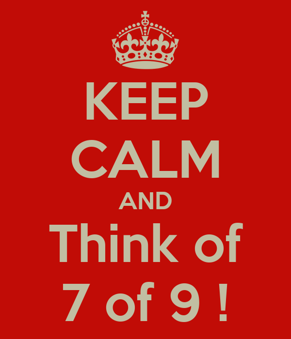 KEEP CALM AND Think of 7 of 9 !