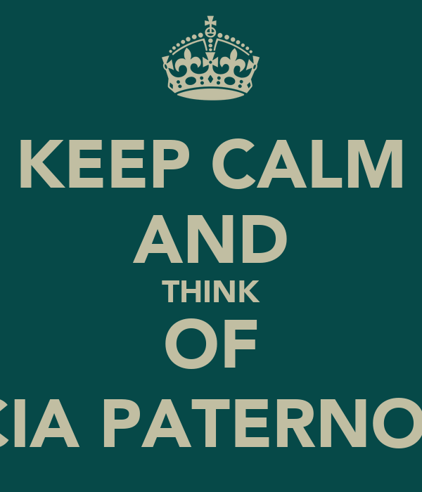 KEEP CALM AND THINK OF ALICIA PATERNOTT :)