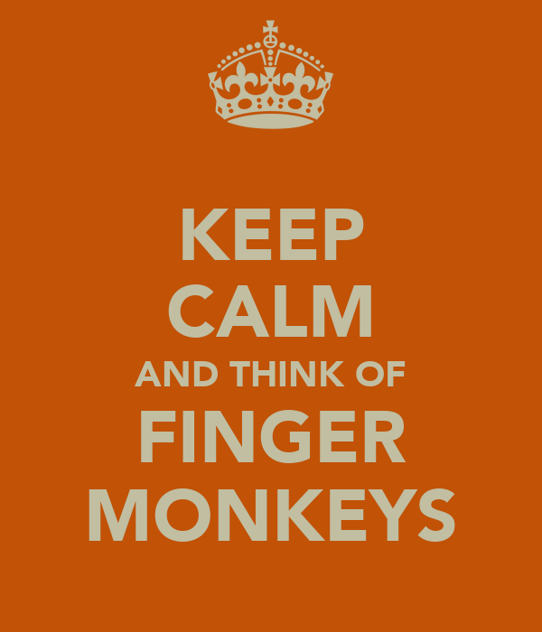KEEP CALM AND THINK OF FINGER MONKEYS
