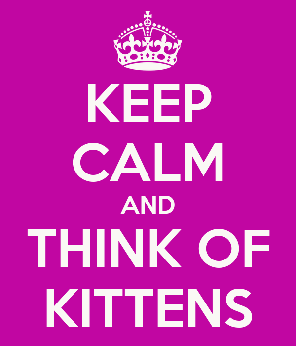 KEEP CALM AND THINK OF KITTENS