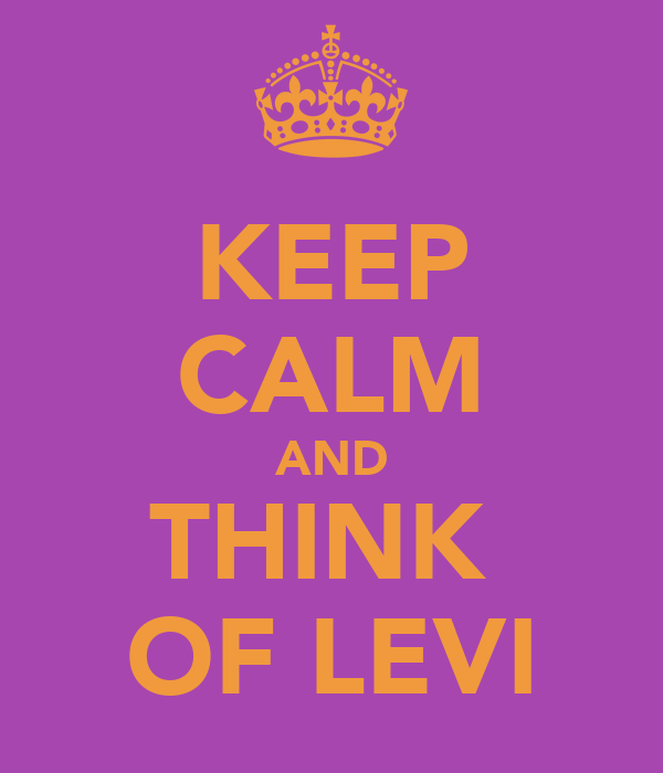 KEEP CALM AND THINK  OF LEVI