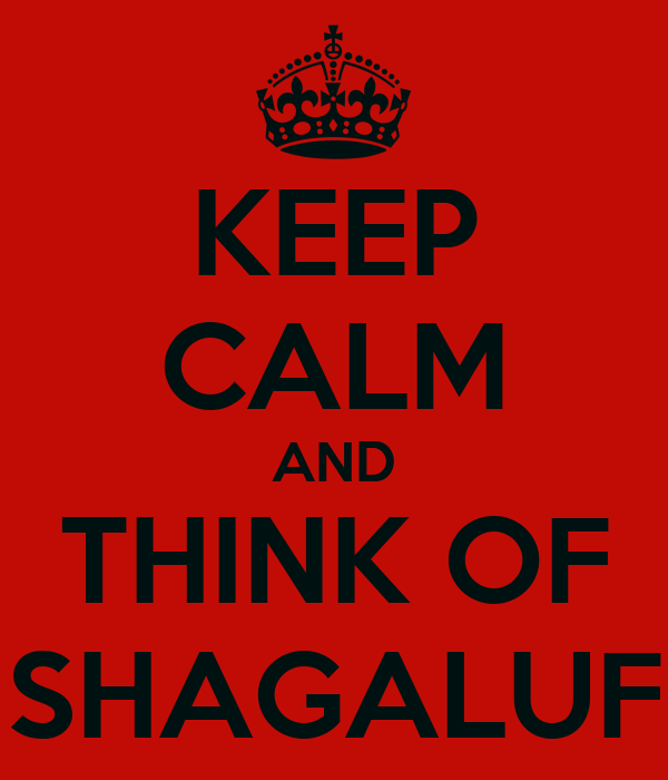 KEEP CALM AND THINK OF SHAGALUF
