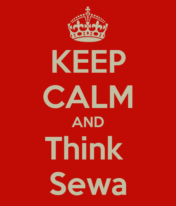 KEEP CALM AND Think  Sewa