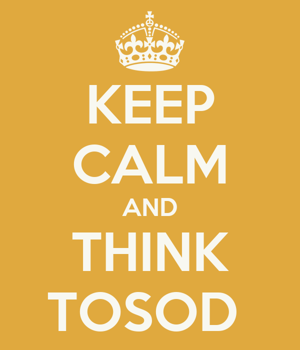 KEEP CALM AND THINK TOSOD
