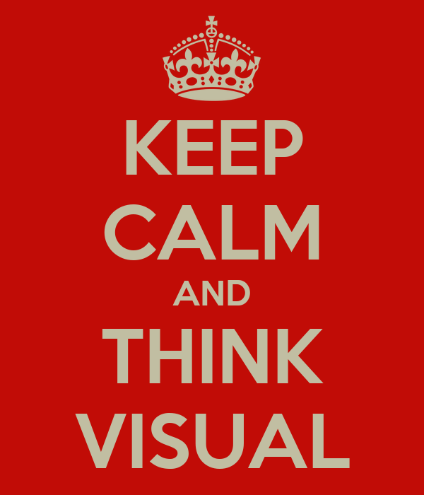 KEEP CALM AND THINK VISUAL