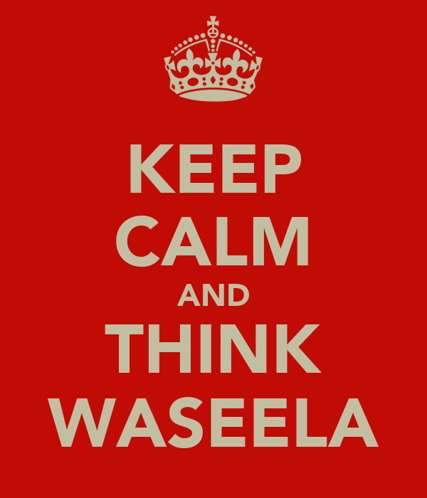 KEEP CALM AND THINK WASEELA