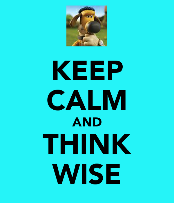 KEEP CALM AND THINK WISE