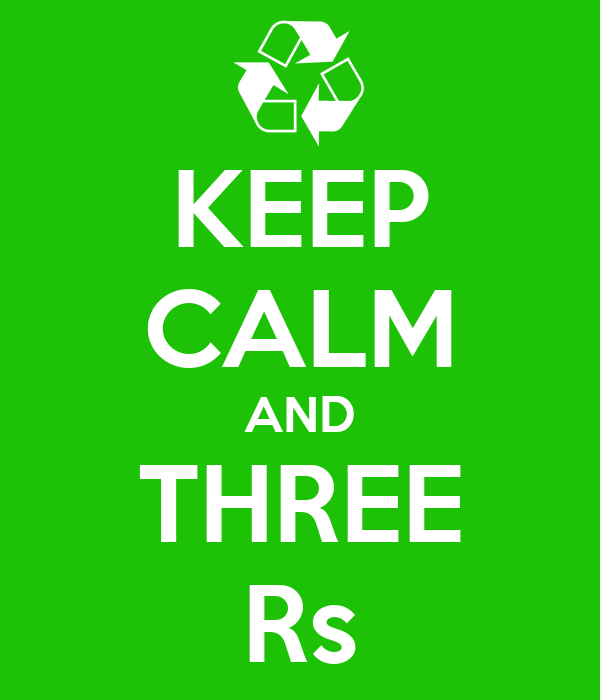 KEEP CALM AND THREE Rs