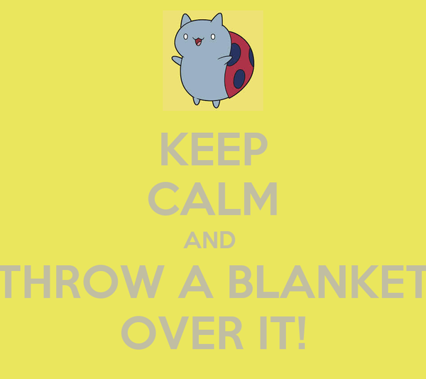 KEEP CALM AND  THROW A BLANKET OVER IT!