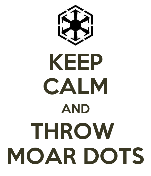 KEEP CALM AND THROW  MOAR DOTS