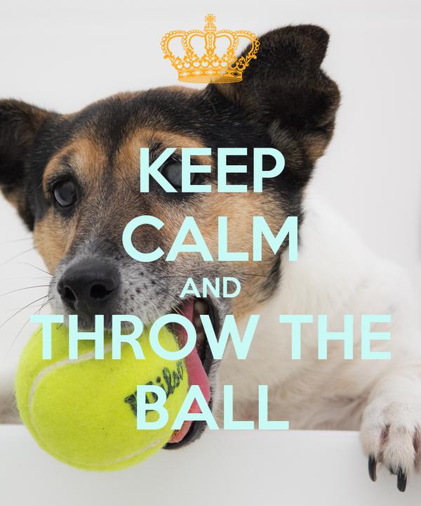KEEP CALM AND THROW THE BALL