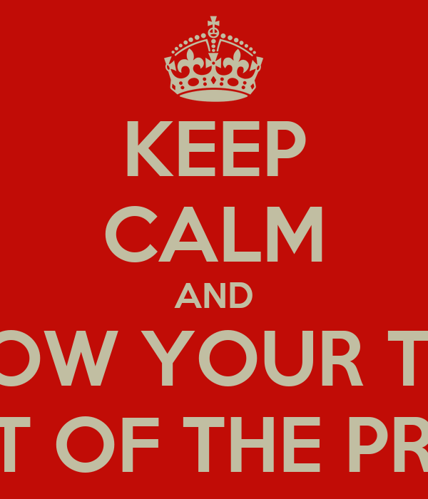 KEEP CALM AND THROW YOUR TOYS OUT OF THE PRAM