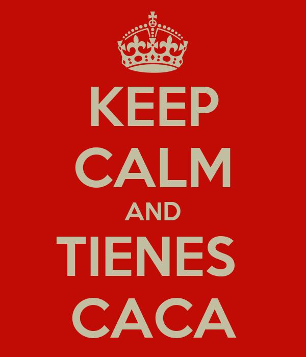 KEEP CALM AND TIENES  CACA