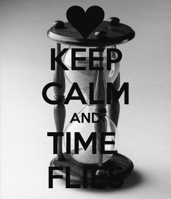 KEEP CALM AND TIME  FLIES