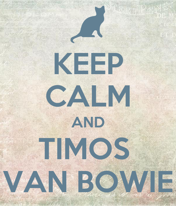KEEP CALM AND TIMOS  VAN BOWIE