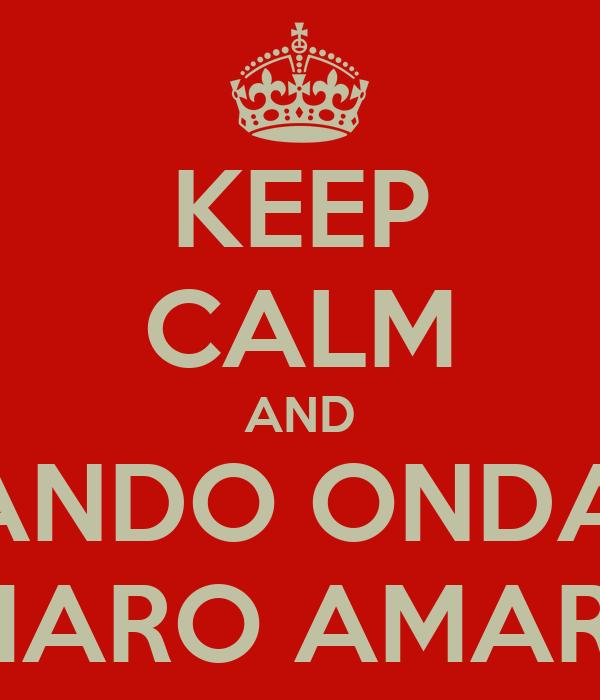 KEEP CALM AND TIRANDO ONDA DE CAMARO AMARELO
