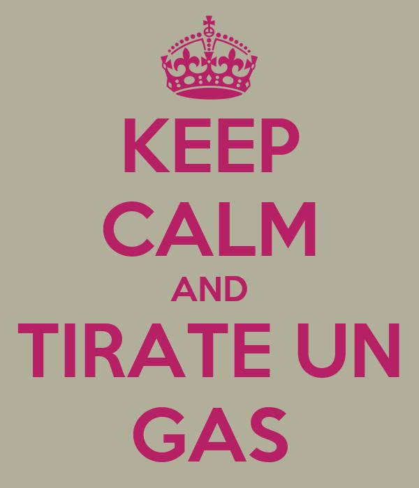 KEEP CALM AND TIRATE UN GAS