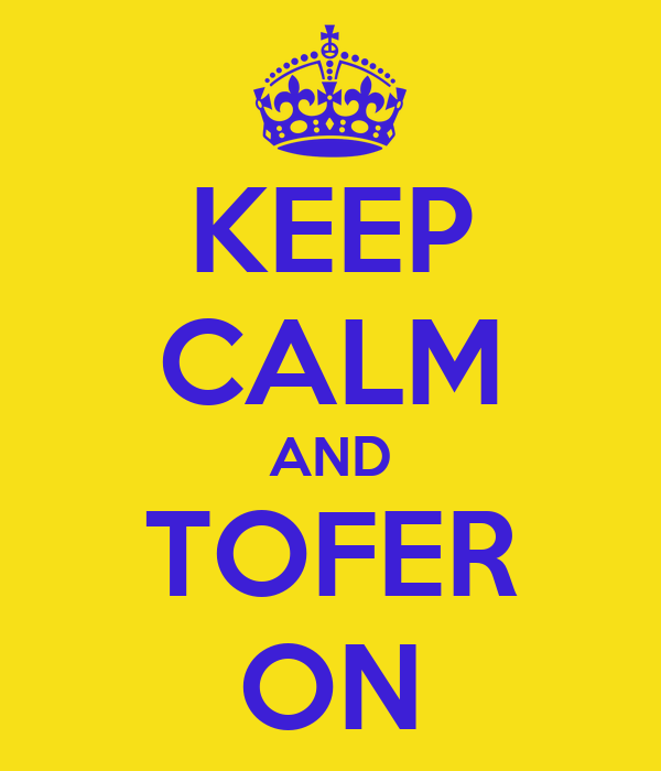 KEEP CALM AND TOFER ON