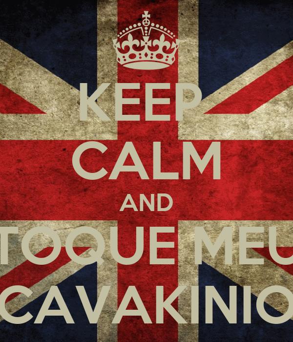 KEEP  CALM AND TOQUE MEU CAVAKINIO