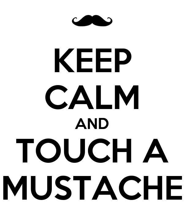 KEEP CALM AND TOUCH A MUSTACHE