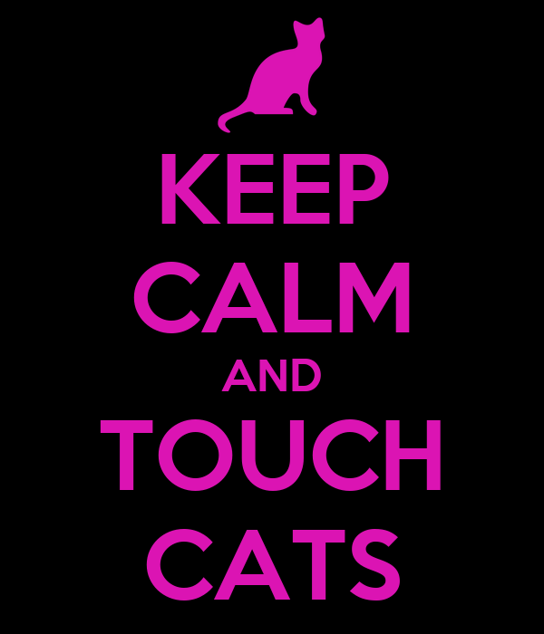 KEEP CALM AND TOUCH CATS