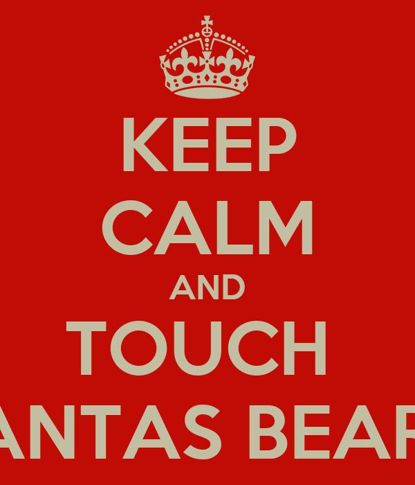 KEEP CALM AND TOUCH  SANTAS BEARD