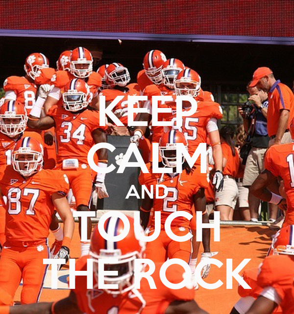 KEEP CALM AND TOUCH THE ROCK