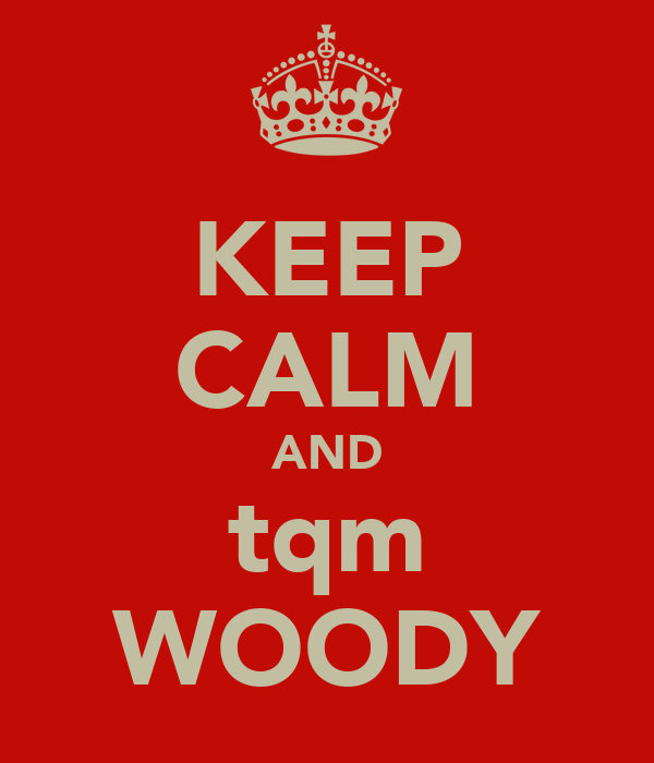 KEEP CALM AND tqm WOODY