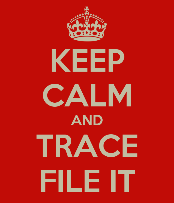 KEEP CALM AND TRACE FILE IT
