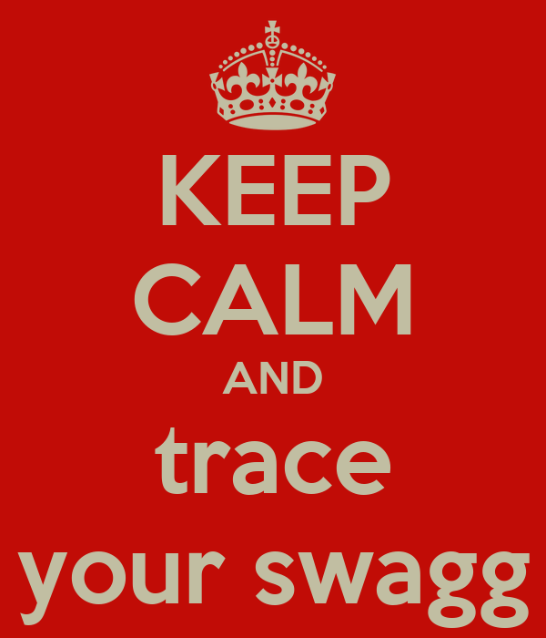KEEP CALM AND trace your swagg
