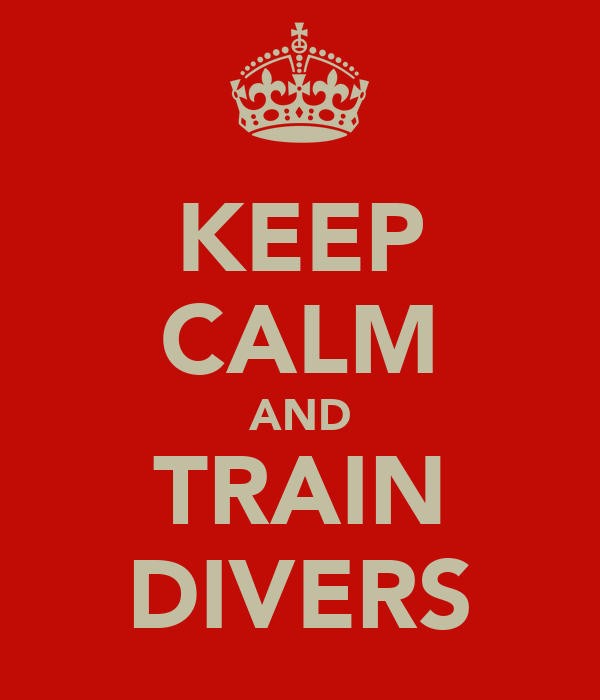KEEP CALM AND TRAIN DIVERS