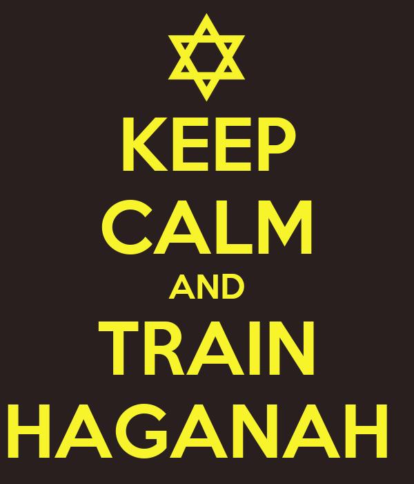 KEEP CALM AND TRAIN HAGANAH