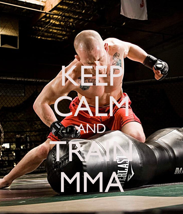 KEEP CALM AND TRAIN MMA