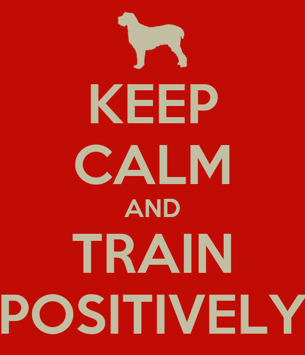 KEEP CALM AND TRAIN POSITIVELY