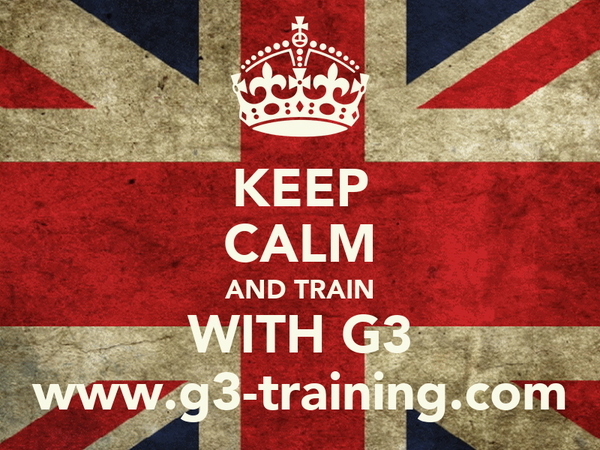 KEEP CALM AND TRAIN WITH G3 www.g3-training.com