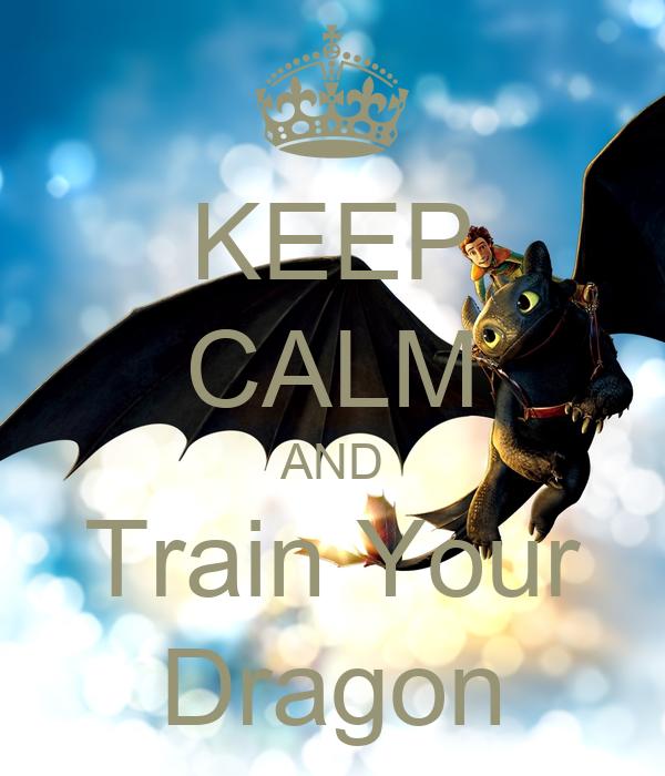 KEEP CALM AND Train Your Dragon