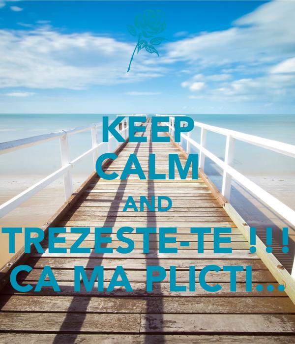 KEEP CALM AND TREZESTE-TE !!! CA MA PLICTI...