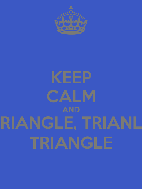 KEEP CALM AND TRIANGLE, TRIANLE TRIANGLE