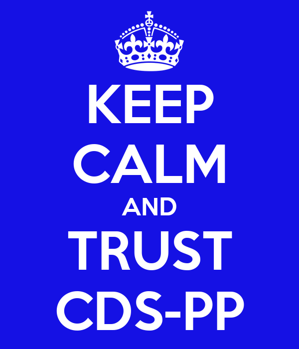 KEEP CALM AND TRUST CDS-PP