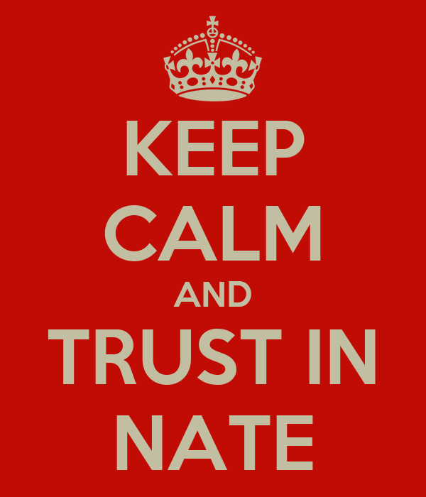 KEEP CALM AND TRUST IN NATE