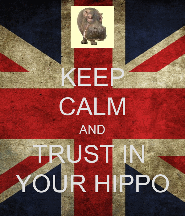 KEEP CALM AND TRUST IN  YOUR HIPPO
