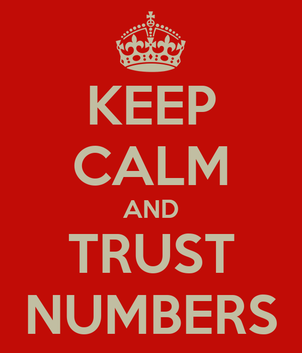 KEEP CALM AND TRUST NUMBERS
