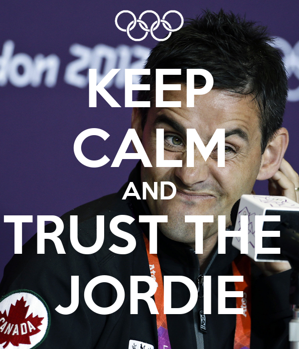 KEEP CALM AND TRUST THE  JORDIE